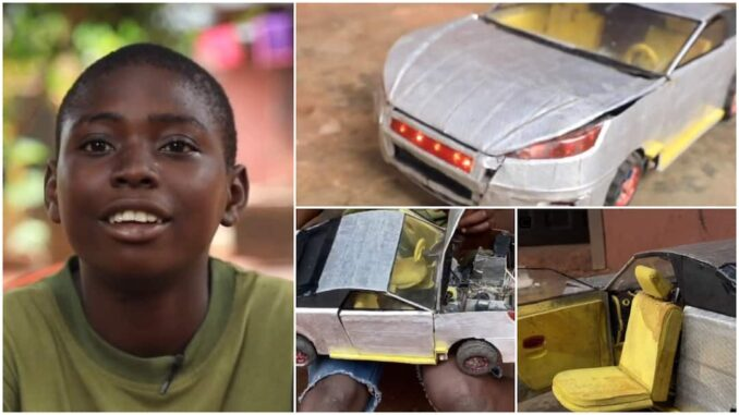 Nigerian Boy Builds Toy Lamborghini 2021 Car With Mobile Seats