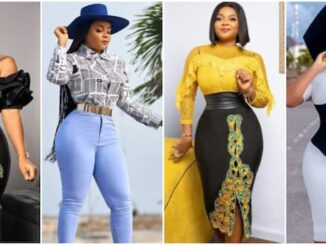Actress Bimbo Ademoye Shows 'Figure 8 Queens' How to Slay Different Outfits