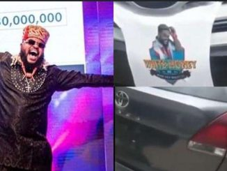 Moment Fans Gift Whitemoney A Toyota Venza Car Worth Millions Of Naira (Video)