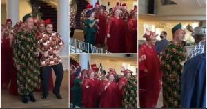 Oyinbo Men Show off In Igbo African Attire for Traditional Wedding (Video)